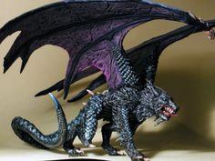 32mm Fantasy - Kit# VEL4009B - Malryte, Half Dragon, Dire Wolf | eBay Fantasy Wolf, Fantasy Dragon, Dark Fantasy Art, Dragon Wolf, Night Fury Dragon, Hybrid Art, Dragon Sketch, Furry Wolf, Dire Wolf