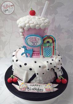 Studio Cake Design Cake Inspirations Pinterest Studios - Rockabilly birthday cake