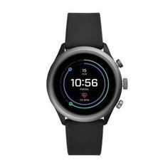 Fossil Mens Sport Metal and Silicone Touchscreen Smartwatch with Heart Rate, GPS, NFC, and Smartphone Notifications Android Phone, Android Watch, Sport Watches, Watches For Men, Nice Watches, Cheap Watches, Bluetooth, Bracelet Cuir, Operating System