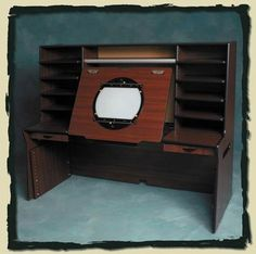 Allenwood Director desk.    Allenwood made desks for studios such as Warner Bros. Feature Animation and Dreamworks . They are no longer in business ,but these photos of their products might be helpful for someone wanting to build their own desk