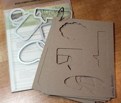A great way to catalog dies and see how they would look cut from certain paper or paired with a particular stamp.