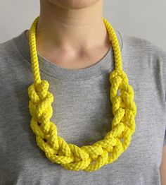 —Yellow Rope Necklace