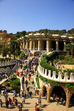 This Guell Park in Barcelona, Spain it is an incredible park full of the coolest mosaics.