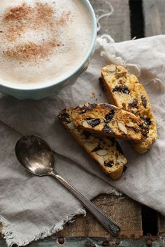 Chocolate Cherry Almond Biscotti: perfect with a cup of coffee or tea