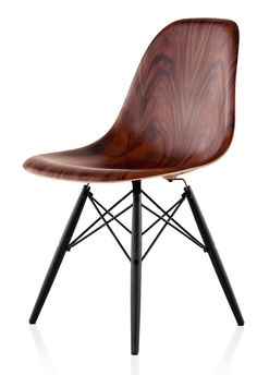Eames Moulded Timber Side Chair from Herman Miller   Yellowtrace.