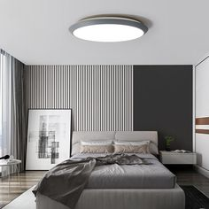 The Metia LED Ceiling Light is made of high-quality and durable materials and creates unique lighting moments, which can be cozy or intensive and powerful. Depending on the light intensity and luminous color of the LEDs, the light can have a posit. Master Bedroom, Bedroom Decor, Kitchen New York, Modern Bedroom Design, Contemporary Bedroom, Led Ceiling Lights, Top Hotels, Best Hotels, Hotels Disney