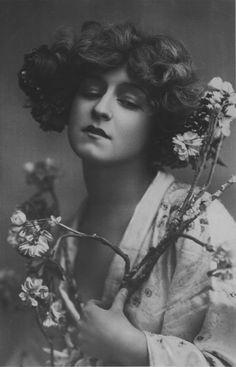 Vintage Flower Lady