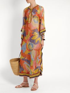 Click here to buy Missoni Mare Abstract-print fine-knit maxi kaftan at MATCHESFASHION.COM