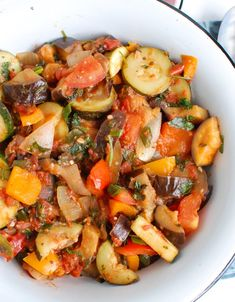 Vegan Recipes Easy, Veggie Recipes, Vegetarian Recipes, Vegan Vegetarian, Salad Recipes, Paleo, Easy Ratatouille Recipes, Side Dish Recipes, Diet