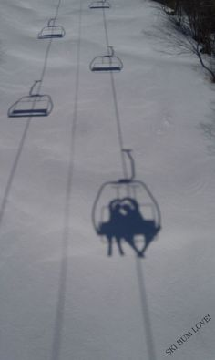 This is so cute, especially because one of A and I's first dates was going up a ski lift and hiking in the snow.