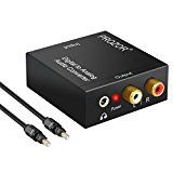 #2: PROZOR DAC Digital SPDIF Toslink to Analog Stereo Audio R/L Converter Adapter with Optical Cable- PS3 XBox HD DVD PS4 Sky HD Plasma Blu-ray Home Cinema Systems AV Amps Apple TV Power by USB Cable #movers #shakers #amazon #electronics #photo