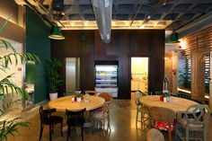 google sydney office. In The Restaurant A Metal Wall Cladding With Rust Patina Was Used. Nature Google Sydney Office