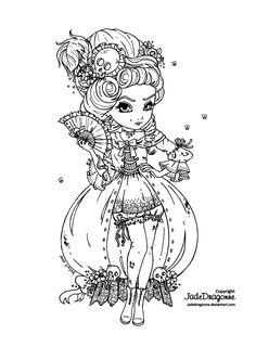 Marie Antoinette's come back - Lineart by JadeDragonne on DeviantArt