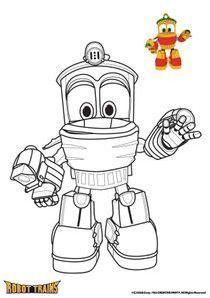 Coloriages Robot Trains A Imprimer Robot Trains Raskraski