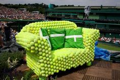 Tennis ball armchair! #tennis