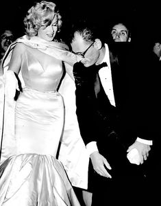 """""""Marilyn and Arthur Miller at the premiere of The Prince and The Showgirl in June 1957. """""""