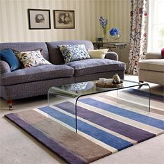 is the that represents a at this Sapphire inspired hued interiors. up with by Ceylon, Sanderson, Goodrich Rugs On Carpet, Carpets, Home Fragrances, Woven Rug, Linen Bedding, Fabric Design, Home Accessories, Lounge, Interior Design