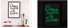 Tableau phosphorescent / http://www.puresweethome.com/rubrique/meubles-et-objets_r3/tableau-phosphorescent-tuto_a710/1