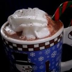 """Eggnog Hot Chocolate 