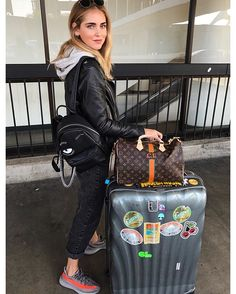 Mexico City here I come  Love my @chiaraferragnicollection mini backpack  #TheBlondeSaladGoesToMexico #TheBlondeSaladNeverStops
