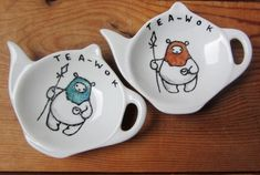 Adorably Nerdy Tea Cups And Tidies