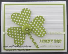 stampin up st patrick's day cards | ... button! I popped up the card base using Stampin' Dimensionals