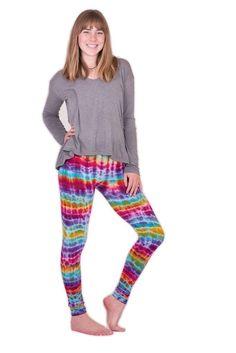 Melting Rainbow Leggings $24.00 Tie Dye Leggings, Pajama Pants, Rainbow, Comfy, Fabric, Cotton, Collection, Fashion, Rain Bow