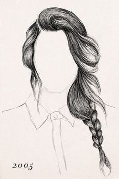 Braiding History - Past Braid Techniques The History Of Braids. Illustration by Ammiel Mendoza.The History Of Braids. Illustration by Ammiel Mendoza. How To Draw Braids, How To Draw Hair, How To Draw Girls, Easy Drawings, Pencil Drawings, Illusion Kunst, Hair Sketch, Hair Style Sketches, Poses References