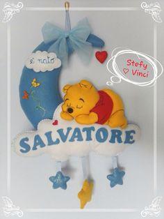 pooh Tweety, Winnie The Pooh, Stencil, Baby Shower, Christmas Ornaments, Holiday Decor, Disney, Handmade, Character
