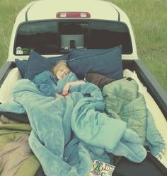 Full the back of your truck with pillows and blankets, stop in the middle of know where and gaze at the stars in a pile of of blankets/pillows