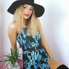 Mega babe @lulutrixabelle in our Cactus Hex Dress  Exclusive to billandmar.com  #fblogger #ootd #billandmargirl