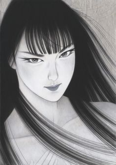 by: Ichiro Tsurato Japanese visual artist, was born in 1954 in the city of Hondo in Kumamoto Prefecture, Ichiro Tsuruta grew up in Kyushu's Amakusa Region, Japan. Japanese Drawings, Japanese Prints, Caricature, Romantic Paintings, Korean Art, Love Illustration, Japan Art, Elements Of Art, Chinese Art