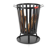 Panier Brasero Retro de Barbecook - Nathalie Lavirotte Fire Basket, Fire Pit Designs, Metal Welding, House Landscape, Wood Burner, Laque, Camping Stove, Outdoor Fire, Wood Storage
