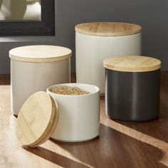 Set of 4 Silo Canisters | Crate and Barrel