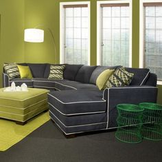 Simply Yours 4 PC Sectional Corey Cadet with Accent Pillows | Living Room Warehouse