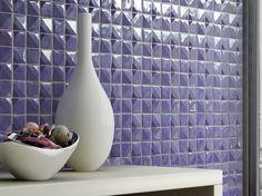 Glass Mosaic NOVA by Mosaico+   Design Giugiaro Design (2011) #mosaic #lilac #colour