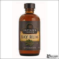 Captain's Choice Bay Rum Aftershave (4oz) | Maggard Razors - Straight Razor Restoration, Custom Scales and Wet Shaving Products