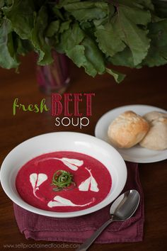 Fresh Beet Soup | Self Proclaimed Foodie - our family loves this easy to make, delicious, superfood soup