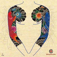 Koi Tattoo Sleeve, Japanese Sleeve Tattoos, Arm Tattoo, Koi Dragon Tattoo, Koi Fish Tattoo, Japan Tattoo Design, Japanese Tattoo Designs, Bull Tattoos, Tribal Tattoos