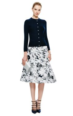 Toile and Lace Flared Front Skirt by Thom Browne - Moda Operandi