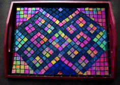 Mosaic tray - top view Mosaic Tray, Pebble Mosaic, Mosaic Tiles, Sisal, Ikea Hackers, Mosaic Designs, Nespresso, Coasters, Beautiful Pictures