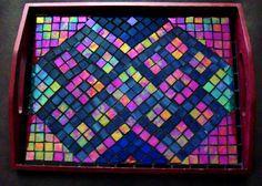 Mosaic tray - top view