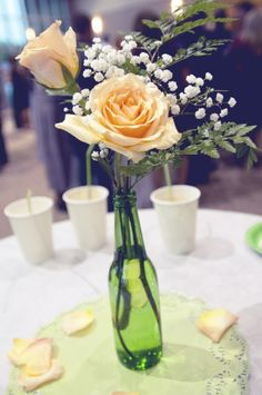 Arreglo Simple Centerpieces, Wedding Centerpieces, Images Lindas, Our Wedding, Dream Wedding, Easy Coffee, Ideas Para Fiestas, Something Old, Quinceanera Dresses