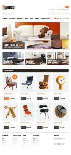 Template 42997 - Furnico Furniture OpenCart Template