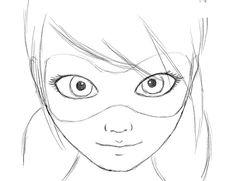 Как нарисовать Леди Баг и Супер Кота карандашом поэтапно. Как научиться рисовать Леди Баг и Супер Кота