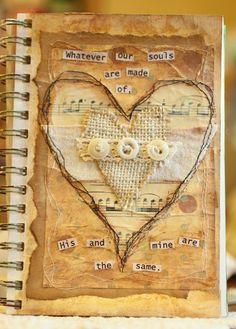 Art journal page By LindaR --- love love love ;)
