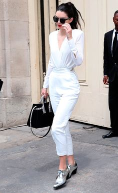 kendall jenner com look all white