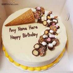 Write Your Name On Flower Birthday Cake For Mom Birthday cakes
