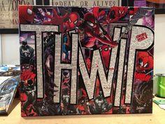Collage Comics sur toile Spiderman