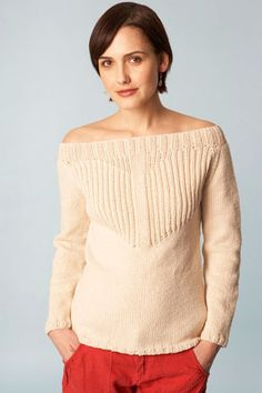 Boatneck Raglan Pullover - I like the basic shape, not so sure I like the design on the front...